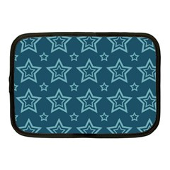 Star Blue White Line Space Netbook Case (medium)  by Alisyart