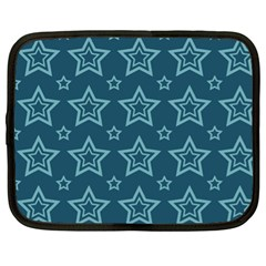 Star Blue White Line Space Netbook Case (xl)  by Alisyart