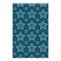 Star Blue White Line Space Shower Curtain 48  X 72  (small)  by Alisyart