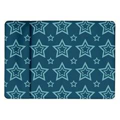 Star Blue White Line Space Samsung Galaxy Tab 10 1  P7500 Flip Case