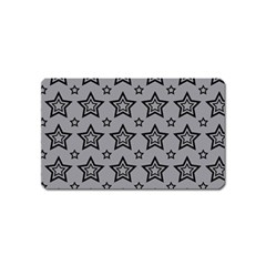 Star Grey Black Line Space Magnet (name Card) by Alisyart
