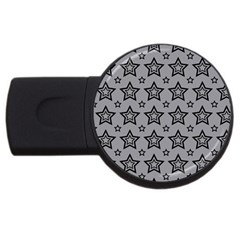 Star Grey Black Line Space Usb Flash Drive Round (2 Gb) by Alisyart