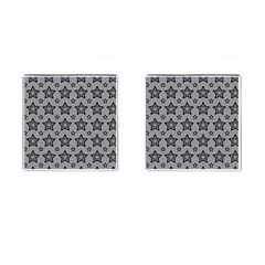 Star Grey Black Line Space Cufflinks (square) by Alisyart