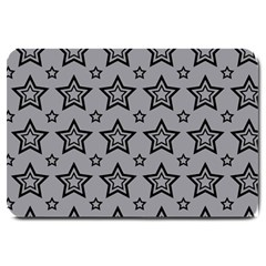 Star Grey Black Line Space Large Doormat  by Alisyart