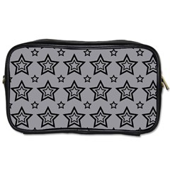 Star Grey Black Line Space Toiletries Bags 2 Side by Alisyart