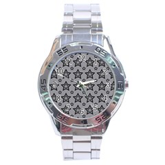 Star Grey Black Line Space Stainless Steel Analogue Watch by Alisyart