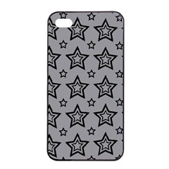 Star Grey Black Line Space Apple Iphone 4/4s Seamless Case (black)