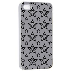 Star Grey Black Line Space Apple Iphone 4/4s Seamless Case (white) by Alisyart
