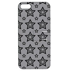 Star Grey Black Line Space Apple Iphone 5 Hardshell Case With Stand by Alisyart