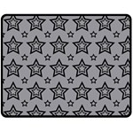 Star Grey Black Line Space Double Sided Fleece Blanket (Medium)  58.8 x47.4  Blanket Front
