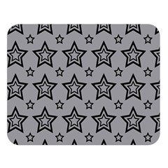 Star Grey Black Line Space Double Sided Flano Blanket (large)  by Alisyart