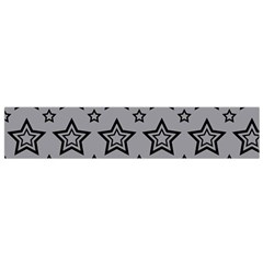 Star Grey Black Line Space Flano Scarf (small)