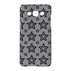 Star Grey Black Line Space Samsung Galaxy A5 Hardshell Case  by Alisyart