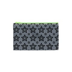 Star Grey Black Line Space Cosmetic Bag (xs) by Alisyart