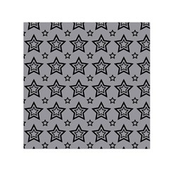Star Grey Black Line Space Small Satin Scarf (square)