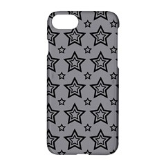 Star Grey Black Line Space Apple Iphone 7 Hardshell Case