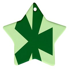 Starburst Shapes Large Circle Green Ornament (star)
