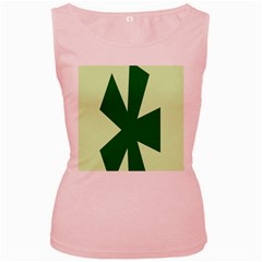 Starburst Shapes Large Circle Green Women s Pink Tank Top by Alisyart