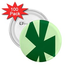 Starburst Shapes Large Circle Green 2 25  Buttons (100 Pack)  by Alisyart