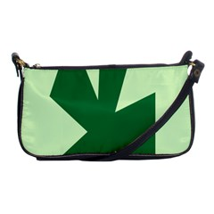 Starburst Shapes Large Circle Green Shoulder Clutch Bags