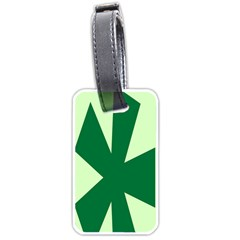Starburst Shapes Large Circle Green Luggage Tags (one Side)  by Alisyart