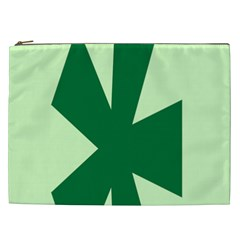 Starburst Shapes Large Circle Green Cosmetic Bag (xxl)