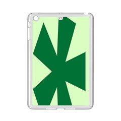 Starburst Shapes Large Circle Green Ipad Mini 2 Enamel Coated Cases