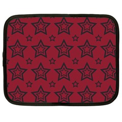 Star Red Black Line Space Netbook Case (large) by Alisyart