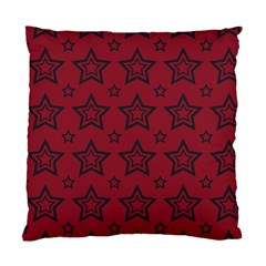 Star Red Black Line Space Standard Cushion Case (one Side) by Alisyart