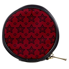 Star Red Black Line Space Mini Makeup Bags by Alisyart