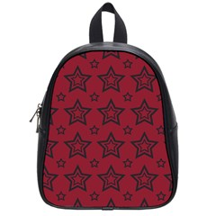 Star Red Black Line Space School Bags (small)