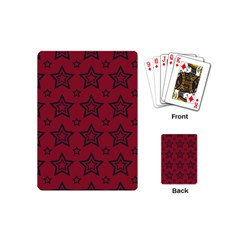 Star Red Black Line Space Playing Cards (mini)  by Alisyart