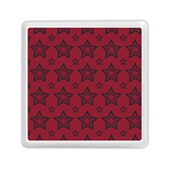 Star Red Black Line Space Memory Card Reader (square)  by Alisyart