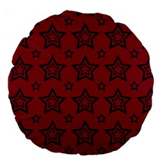 Star Red Black Line Space Large 18  Premium Round Cushions