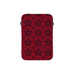 Star Red Black Line Space Apple Ipad Mini Protective Soft Cases by Alisyart