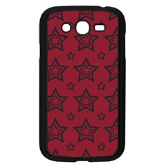 Star Red Black Line Space Samsung Galaxy Grand Duos I9082 Case (black)