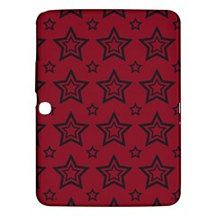 Star Red Black Line Space Samsung Galaxy Tab 3 (10 1 ) P5200 Hardshell Case  by Alisyart