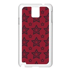 Star Red Black Line Space Samsung Galaxy Note 3 N9005 Case (white) by Alisyart