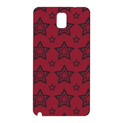 Star Red Black Line Space Samsung Galaxy Note 3 N9005 Hardshell Back Case by Alisyart