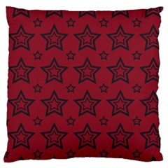 Star Red Black Line Space Large Flano Cushion Case (one Side) by Alisyart