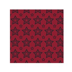 Star Red Black Line Space Small Satin Scarf (square)