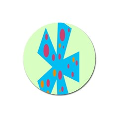 Starburst Shapes Large Circle Green Blue Red Orange Circle Magnet 3  (round) by Alisyart