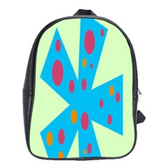 Starburst Shapes Large Circle Green Blue Red Orange Circle School Bags(large)  by Alisyart