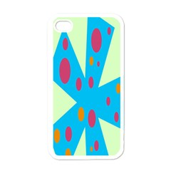 Starburst Shapes Large Circle Green Blue Red Orange Circle Apple Iphone 4 Case (white) by Alisyart