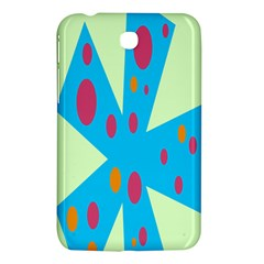 Starburst Shapes Large Circle Green Blue Red Orange Circle Samsung Galaxy Tab 3 (7 ) P3200 Hardshell Case  by Alisyart
