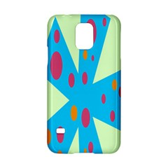 Starburst Shapes Large Circle Green Blue Red Orange Circle Samsung Galaxy S5 Hardshell Case  by Alisyart