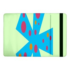 Starburst Shapes Large Circle Green Blue Red Orange Circle Samsung Galaxy Tab Pro 10 1  Flip Case by Alisyart