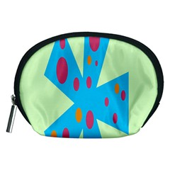 Starburst Shapes Large Circle Green Blue Red Orange Circle Accessory Pouches (medium)  by Alisyart