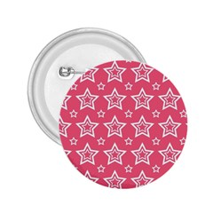 Star Pink White Line Space 2 25  Buttons