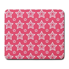 Star Pink White Line Space Large Mousepads by Alisyart